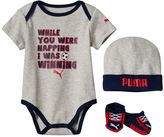 Puma Baby Boy Bodysuit, Socks & Hat Set