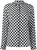 MSGM polka dot shirt - women - Silk - 38