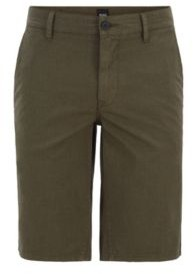 Slim-fit chino shorts in overdyed stretch cotton