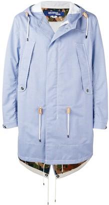 Junya Watanabe check print hooded jacket