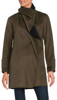 Calvin Klein Wool Blend Wrap Coat