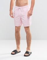 Asos Swim Shorts In Pink Mid Length