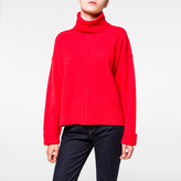 Paul Smith Women's Red Inverted-Seam Roll-Neck Wool Sweater
