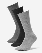 Eddie Bauer Men's Solid Crew Socks - 3 Pack