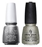 China Glaze Gelaze Tips and Toes Nail Polish, Gossip Over Gimlets, 2 Count