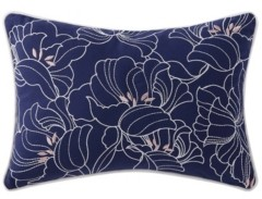 """Oceanfront Resort Indienne Paisley Embroidered Floral 12"""" x 18"""" Decorative Pillow Bedding"""
