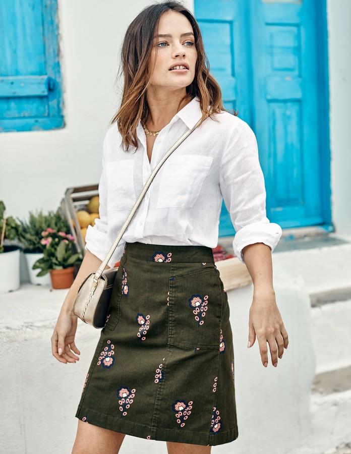 f2f3e68b8 Petite Khaki Skirt - ShopStyle