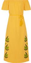 Sensi Studio - Off-the-shoulder Embroidered Cotton Midi Dress - medium