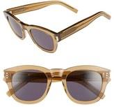 Saint Laurent Women's 'Bold 2' 49Mm Sunglasses - Black