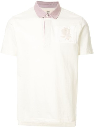 Kent & Curwen Contrasting-Collar Rose Patch Polo Shirt