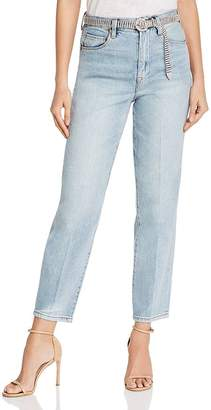 Blank NYC BLANKNYC Belted Straight-Leg Jeans in Gimme the Loot