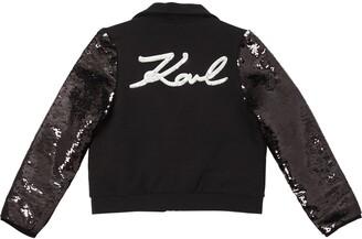 Karl Lagerfeld Paris Embellished Cotton Blend Jacket