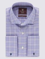 Marks and Spencer Pure Cotton Non-Iron Prince of Wales Checked Shirt