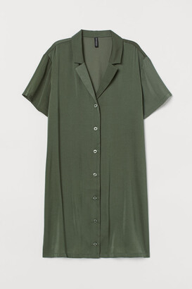 H&M Short Shirt Dress - Green