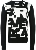 Carven intarsia letter jumper - men - Wool - S