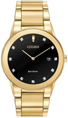 Citizen Men's Axiom Eco Drive Bracelet Watch, 40mm - 0.12 ctw
