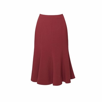 Rumour London Lucy Wool Midi Skirt In Berry