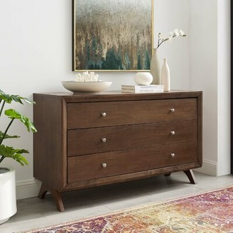 "Wrought Studioâ""¢ Nehemiah 3 Drawer Dresser Wrought Studioa Color: Walnut"