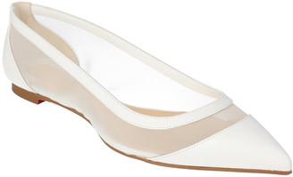 Christian Louboutin Galavati Leather-Trim Ballerina Flat
