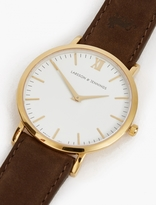Larsson & Jennings Gold and Brown Lugano 40mm Watch