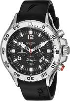 Nautica Men's N14536 NST Stainless Steel Watch with Resin Band