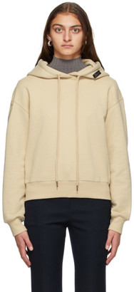 System Beige French Terry Cropped Hoodie