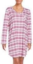 Karen Neuburger Plaid Cotton-Blend Sleepshirt