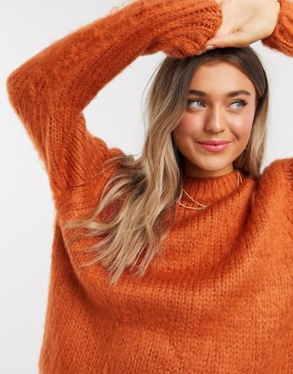 ASOS DESIGN chunky sweater in rust