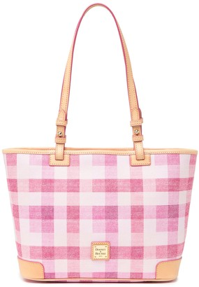 Dooney & Bourke Quadretto Check Small Leisure Shopper Tote Bag