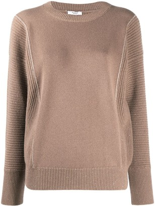 Peserico Panelled Knit Crewneck Jumper