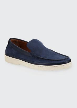 Ermenegildo Zegna Men's Oasi Calf Suede Loafers