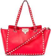 Valentino Small Rockstud Tote in Red | FWRD