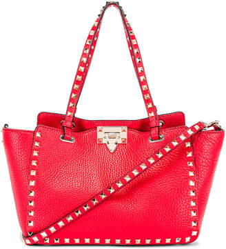 Valentino Small Rockstud Tote in Red | FWRD