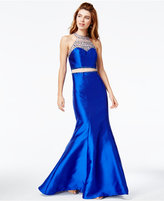 Say Yes to the Prom Juniors' Embellished Illusion Mermaid Gown, A Macy's Exclusive