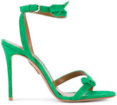 Aquazzura Green Passion Heeled Sandals - women - Leather/Suede - 36