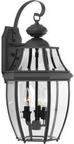 Progress Lighting New Haven Collection 3 -Light Outdoor Black Sconce