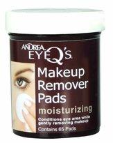 Andrea Eye Q's Eye Makeup Remover Pads, Original Formula Moisturizing , 65 pads by