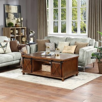 Gracie Oaks Wales Coffee Table with Storage Color: Brown