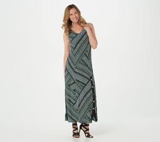 Susan Graver Petite Solid or Printed Liquid Knit Maxi Dress