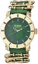 Versus By Versace Women's Madison Quartz Stainless Steel and Leather Casual Watch, Color:Green (Model: S22060016)