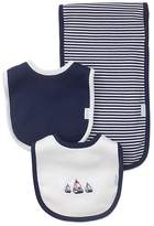 Little Me Boys' Nautical Bibs & Burp Cloth Set - Baby