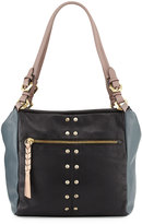 Oryany Madison Colorblock Leather Shoulder Bag, Black/Multi