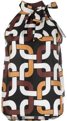 Altea Silk Geometric Print Top