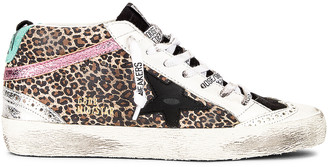 Golden Goose Mid Star Sneaker in Beige Brown Leopard, Black, Ice, Aquamarine & Silver | FWRD