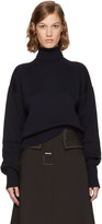 Loewe Navy Cotton and Wool Turtleneck
