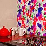 Emma Britton Decorative Glass Designer Sweetpea Patterned Glass Splashback