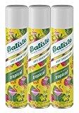 Batiste Dry Shampoo, Tropical Fragrance, 3 Count