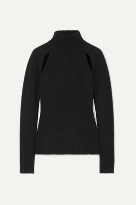 Tom Ford Cutout Cashmere Turtleneck Sweater - Black