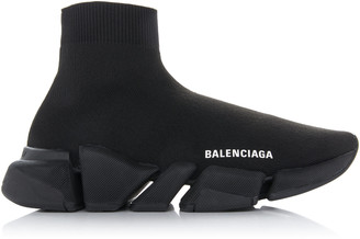 Balenciaga Stretch-Knit High-Top Sneakers