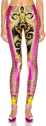 Versace Baroque Legging in Fuchsia & Yellow | FWRD